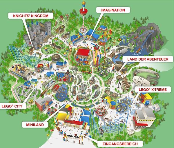 LEGOLAND NIEMCY mapa atrakcji
