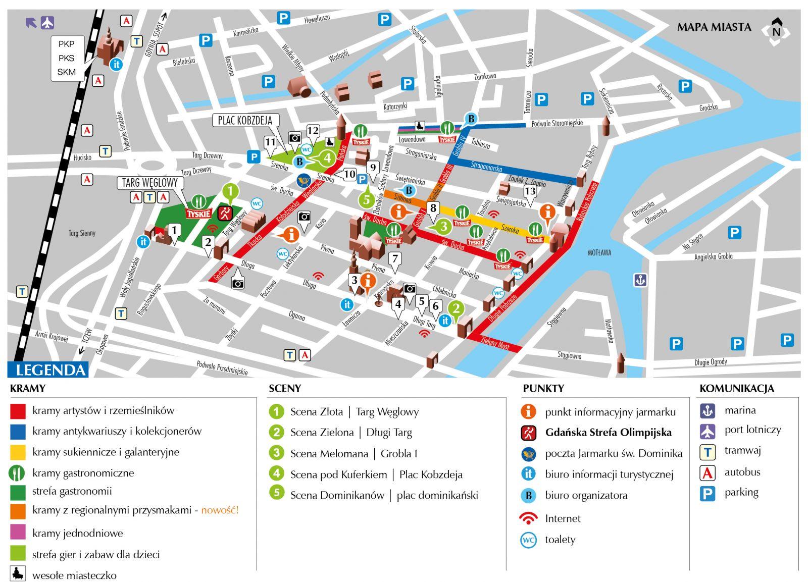 Jarmark Dominikański 2015- mapa stoisk- program